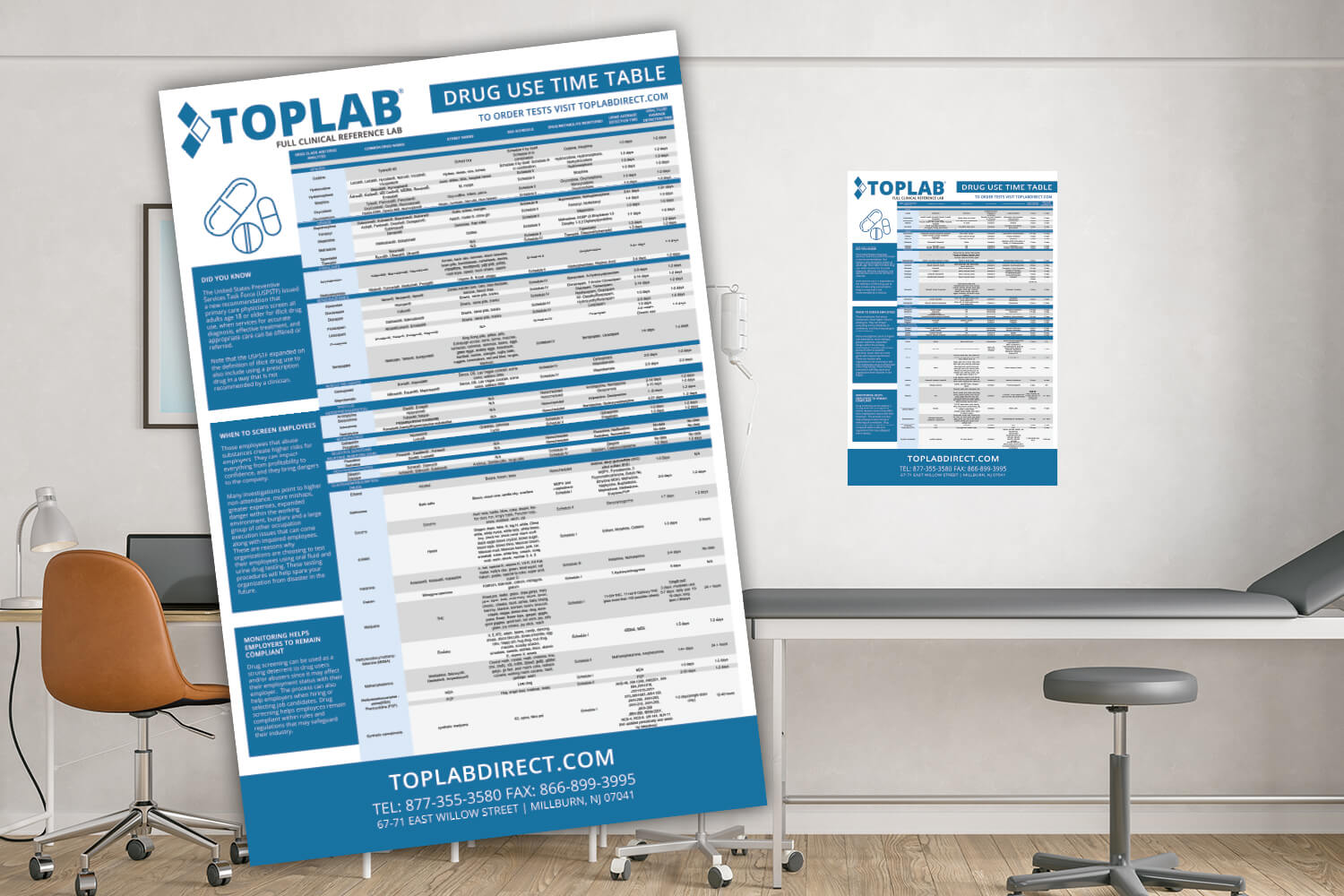 TOPLAB® drug use timetable
