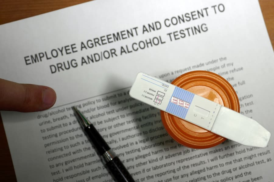 Workplace Drug Testing Agreement And Test